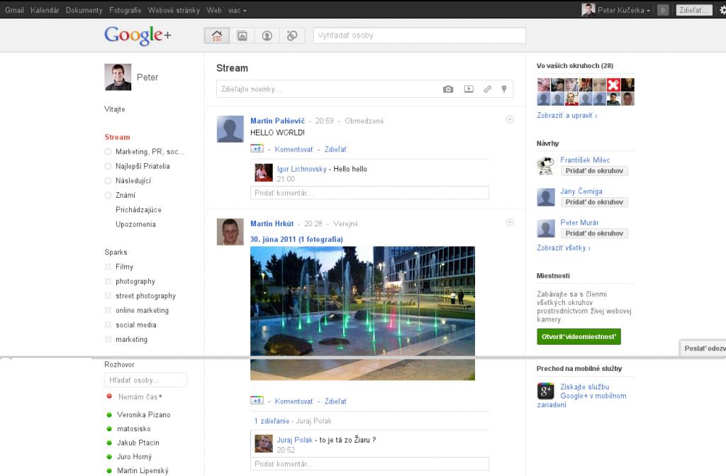 Google včera predstavil sociálnu sieť google plus