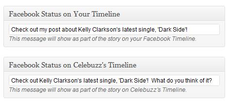 Publikovanie clanku vo vasej Timeline